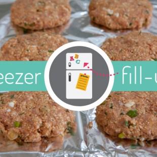 Freezer Fill-Up: Caper Tilapia Packets, Turkey Burgers & Breakfast Burritos