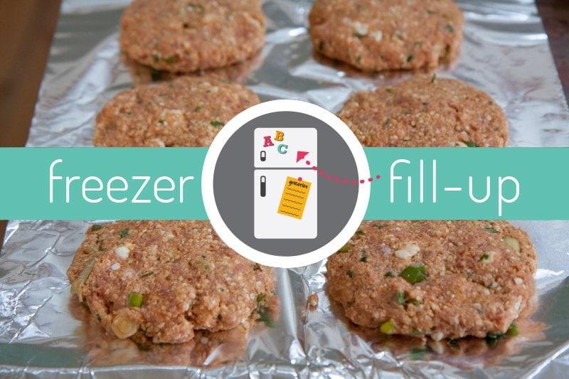 freezer fillup caper tilapia packets turkey burgers