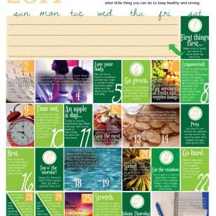 wellness calendar: march 2014 (free printable)