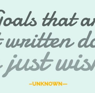 Goals that are not written down are just wishes.