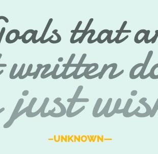 10 Goals for April