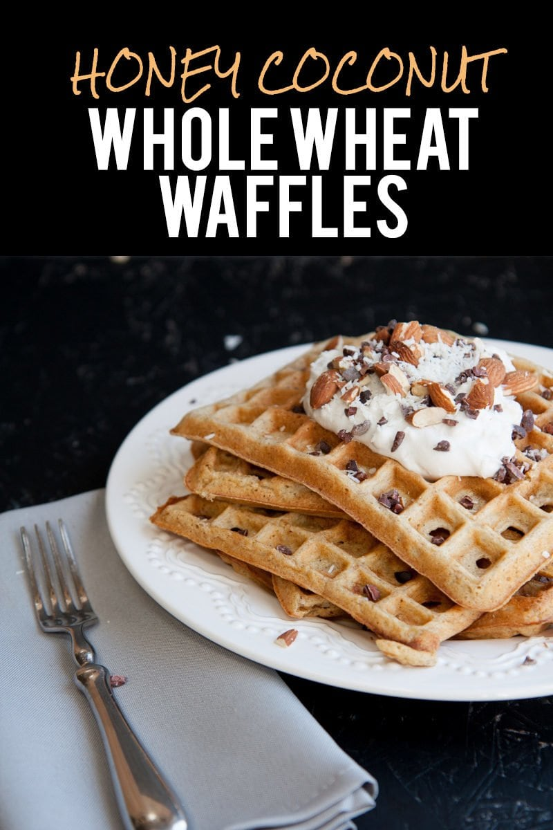 Honey Coconut Whole Wheat Waffles - Back to Her Roots