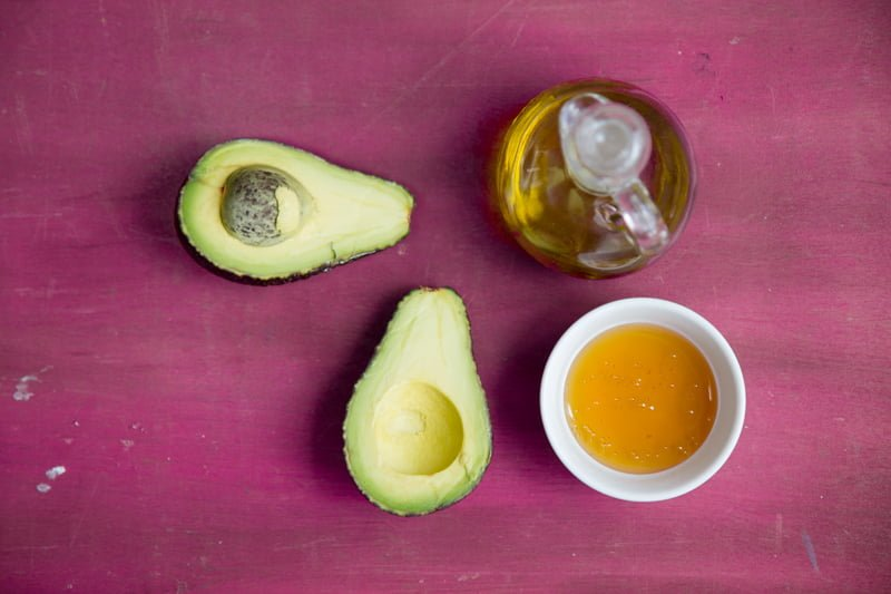 avocado honey olive oil