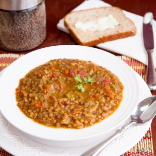 Slim Pickins Lentil Veggie Soup
