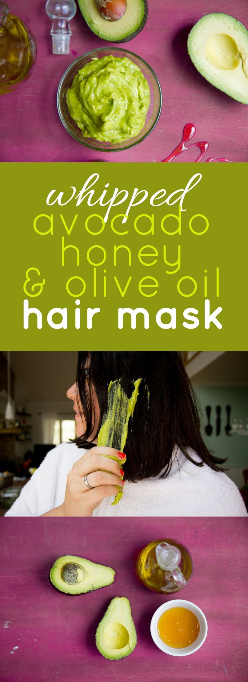Whipped Avocado, Honey, and Olive Oil Hair Mask