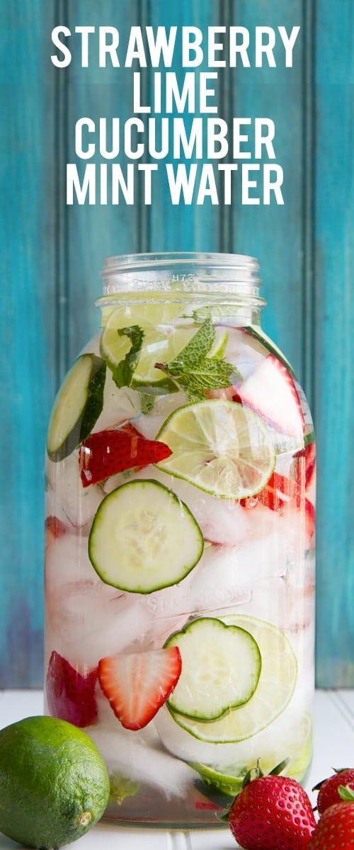 Strawberry Lime Cucumber Mint Water