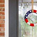 Tutorial: American Flag Yarn Wreath