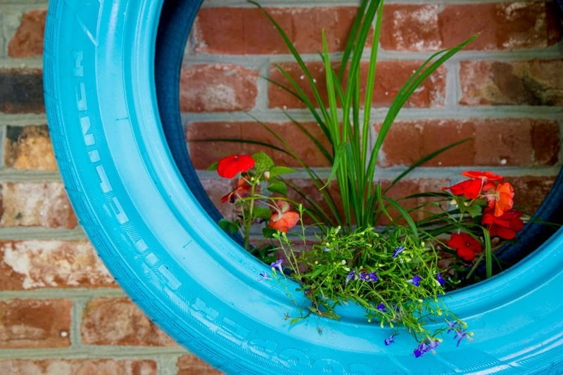 Used Tire Places >> Upcycled Tire Wall Planters - Wholefully