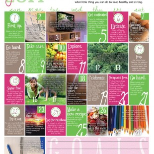 Wellness Calendar: June 2014 (free printable)