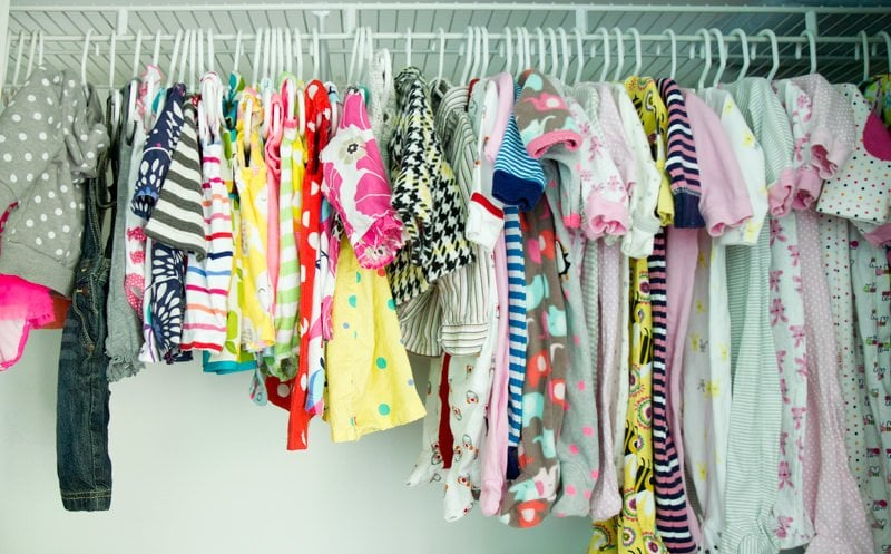 baby clothes nursery