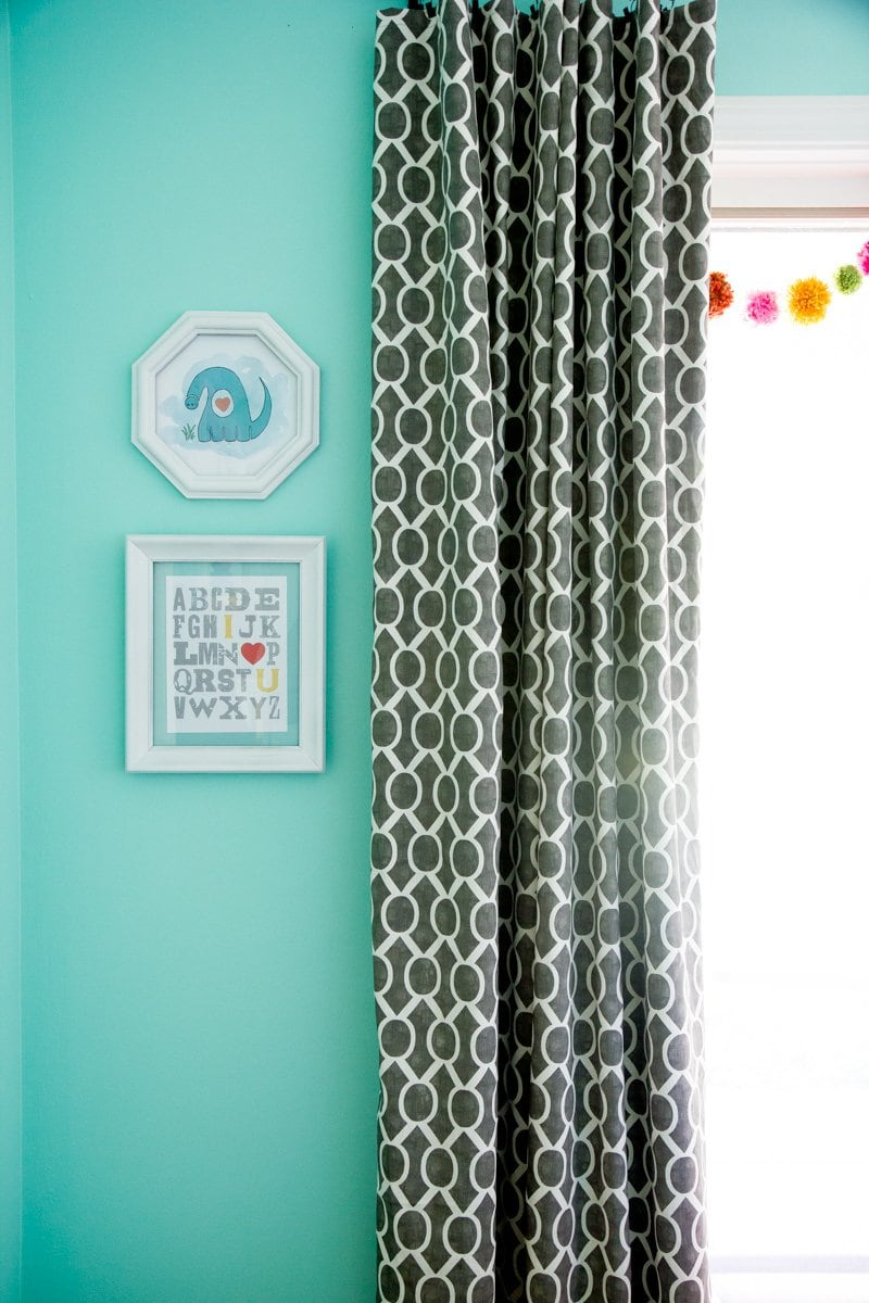 nursery art curtains