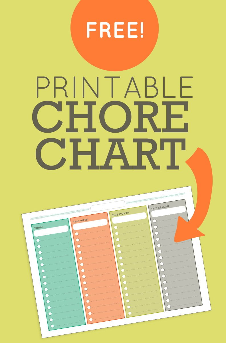 free printable chore list for adults