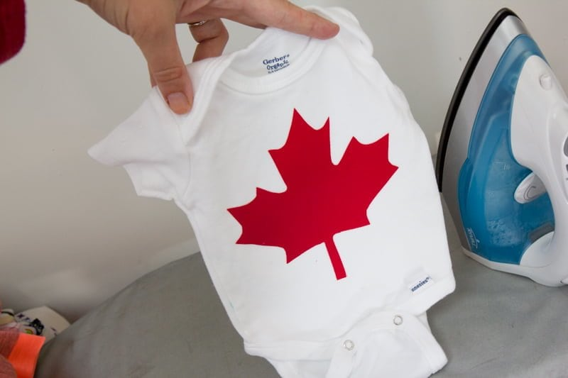 maple leaf onesie