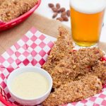Honey Chipotle Almond-Crusted Chicken Strips