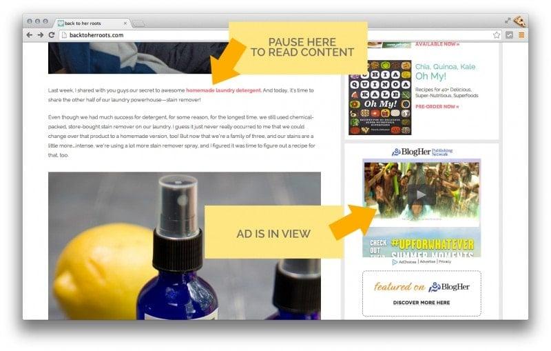 Screenshot Ad Location