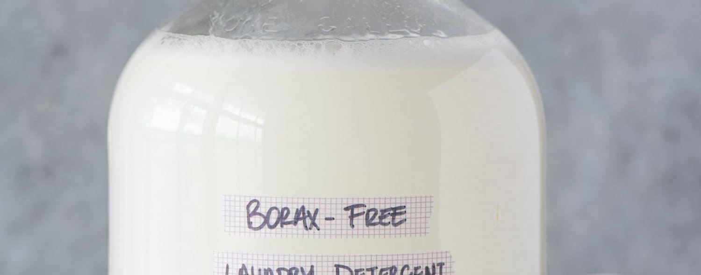 Glass bottle of Borax-Free Laundry Detergent