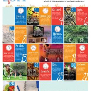 Wellness Calendar: September 2014 (Free Printable)