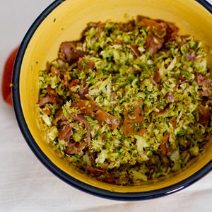 Brussels Sprouts and Proscuitto Salad