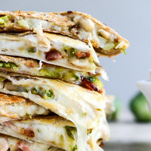 Brussels, Bacon, and Bean Quesadillas