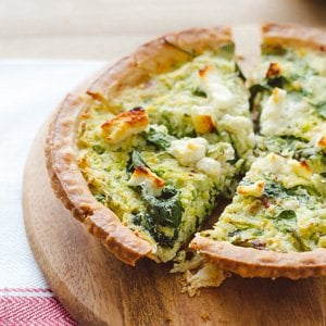 Brussels Sprouts and Baby Greens Feta Pie