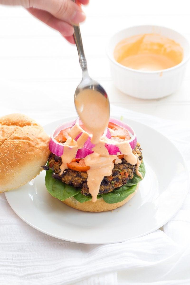 Mushroom and Wild Rice Black Bean Burgers