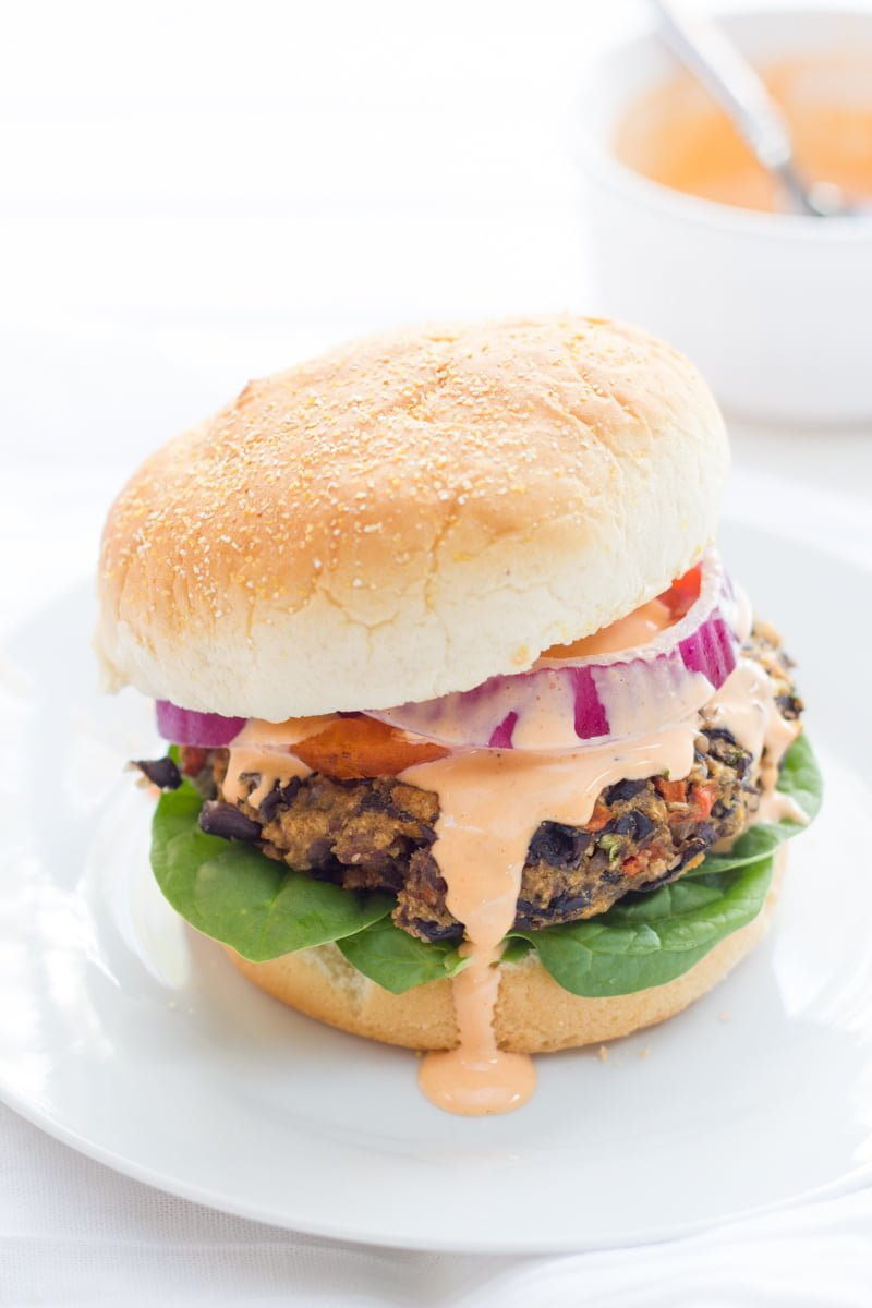 Mushroom and Wild Rice Black Bean Burgers