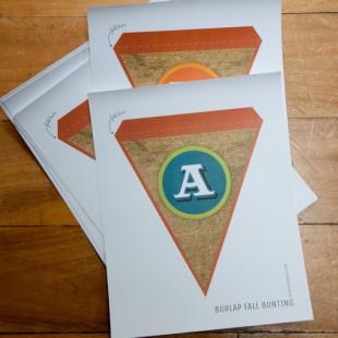 Printable Burlap Fall Bunting