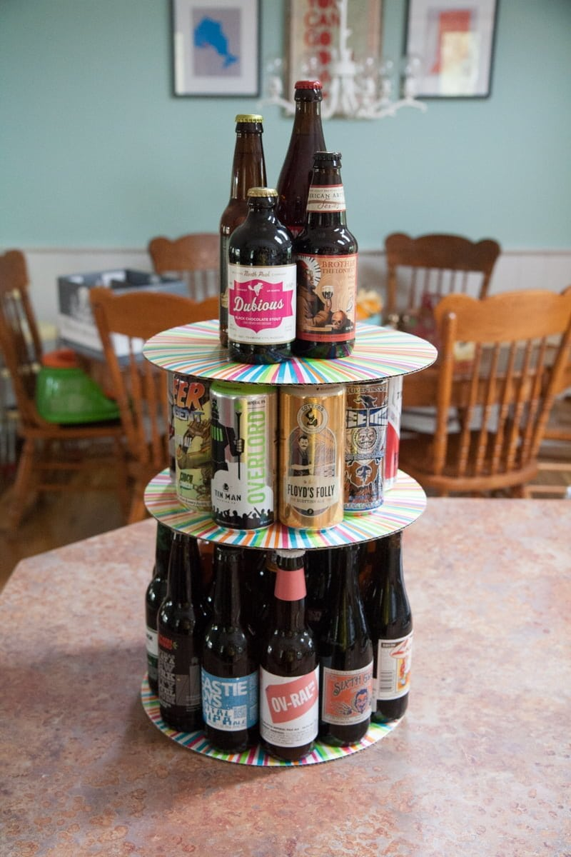 how to build a beer cake