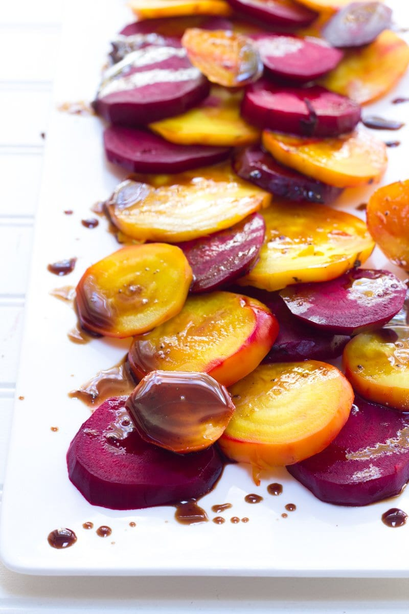 Balsamic Rainbow Roasted Beets