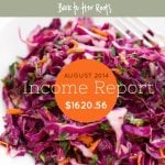 August 2014 Income Report — $1620.56