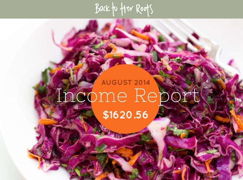 August 2014 Income Report