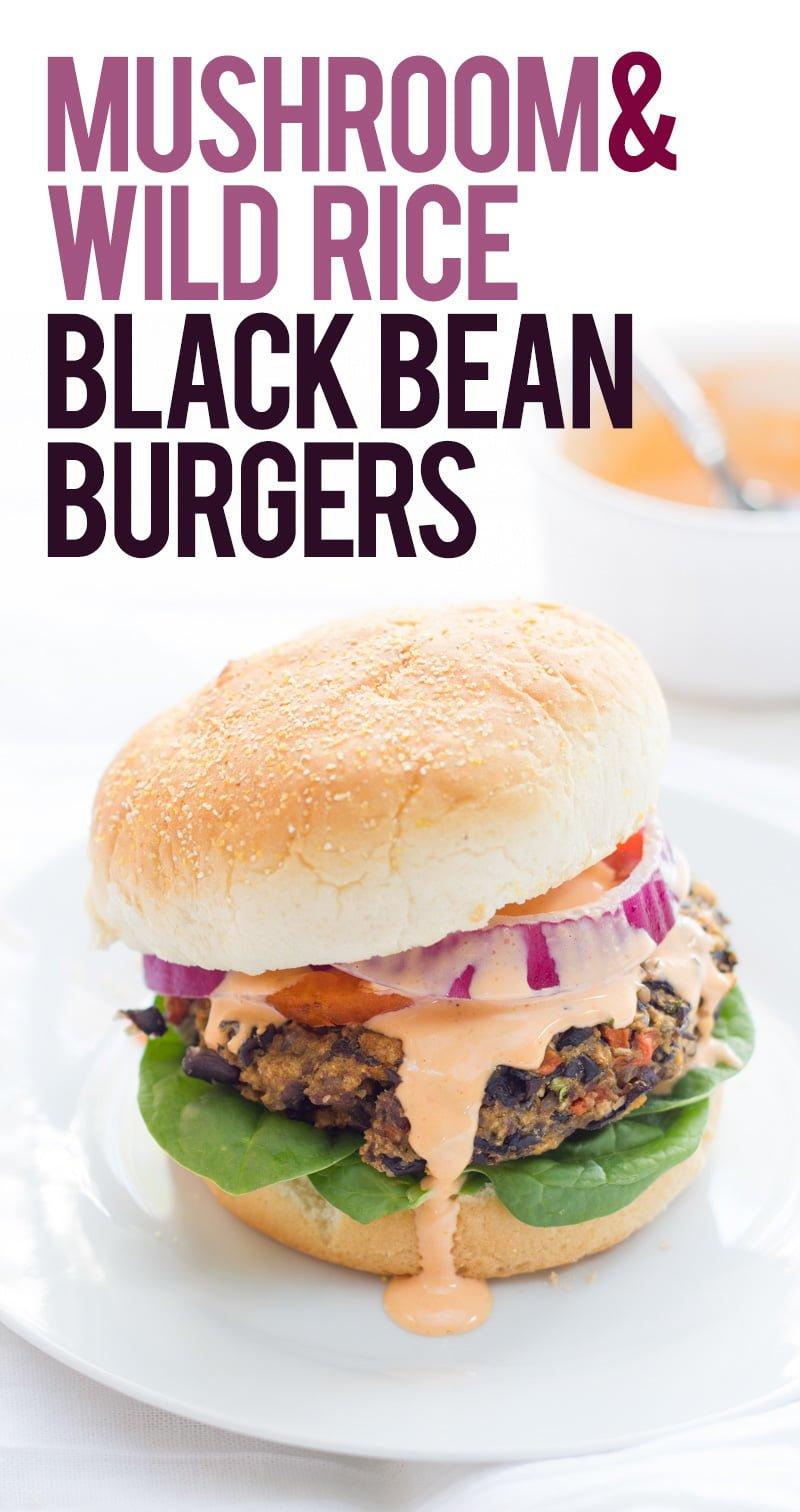Mushroom & Wild Rice Black Bean Burgers