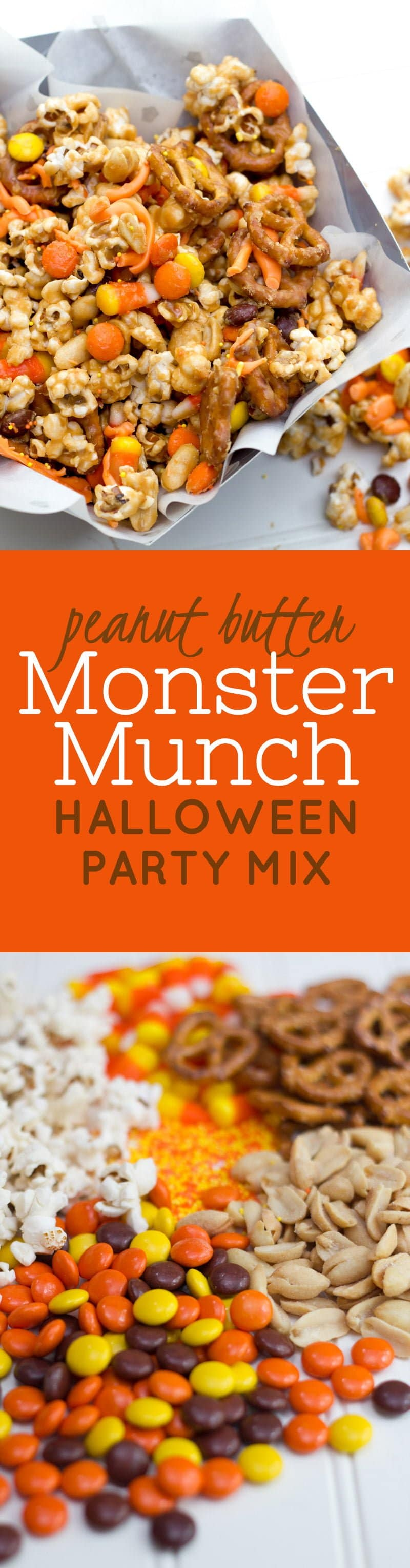 Peanut Butter Halloween Party Mix