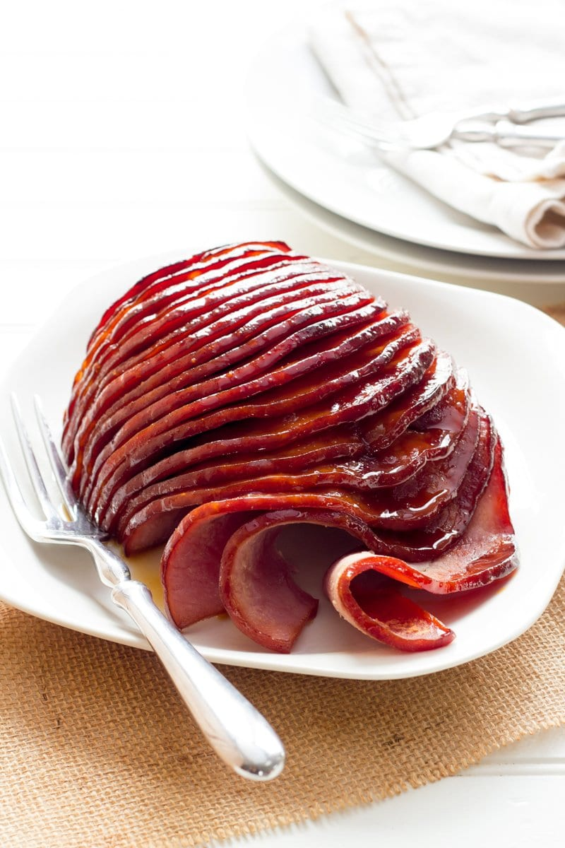 Slow Cooker Ham with Honey-Mustard Glaze