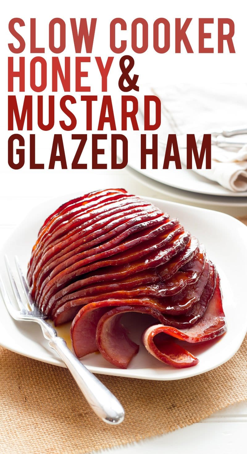 Slow Cooker Honey-Mustard Glazed Ham