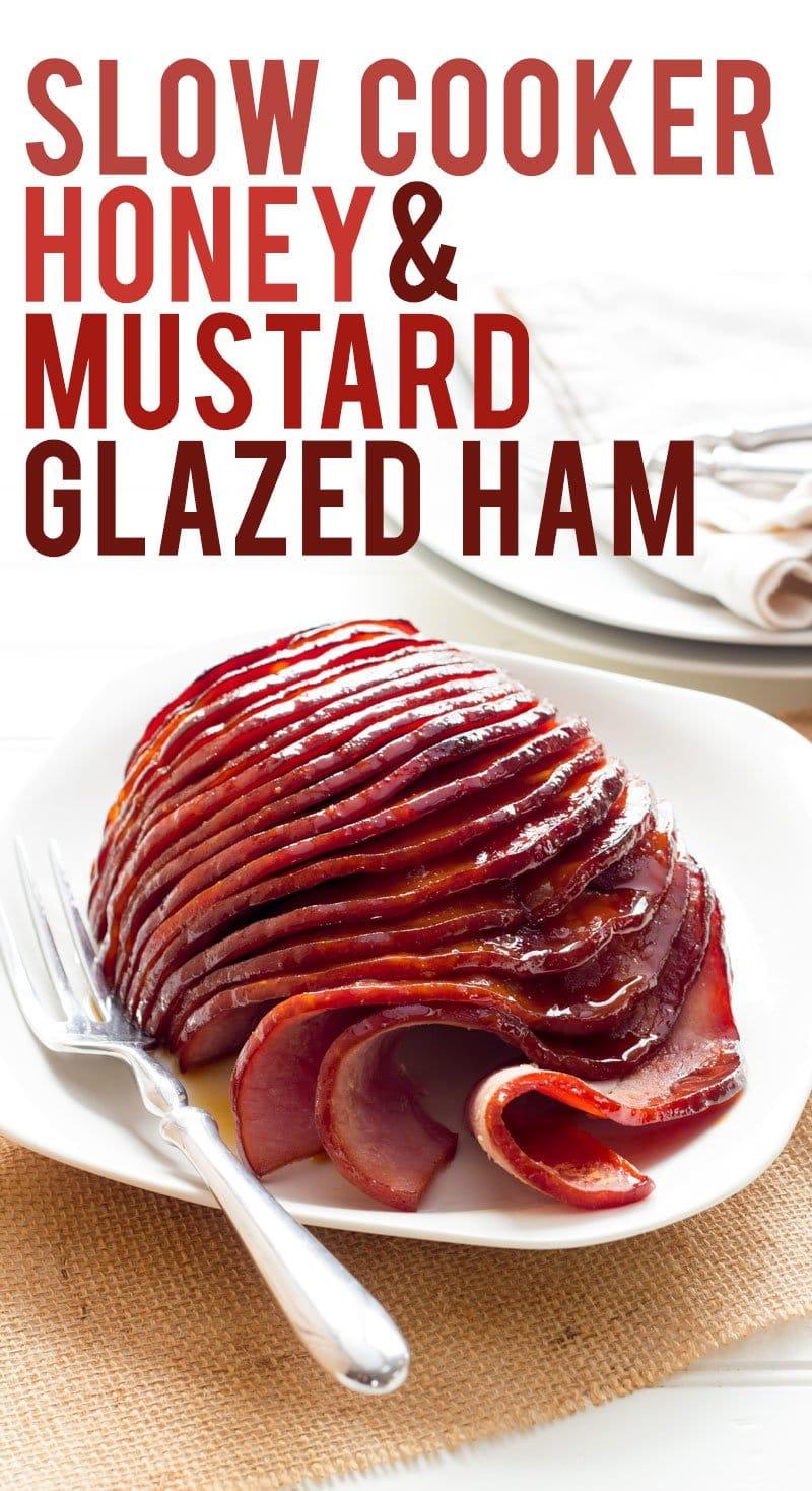 Slow Cooker Honey-Mustard Glazed Ham