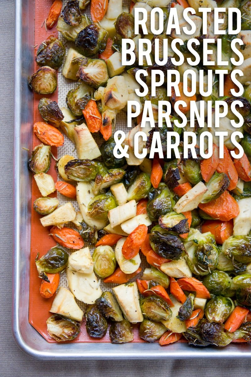 Rosemary Roasted Brussels Sprouts, Parsnips, and Carrots