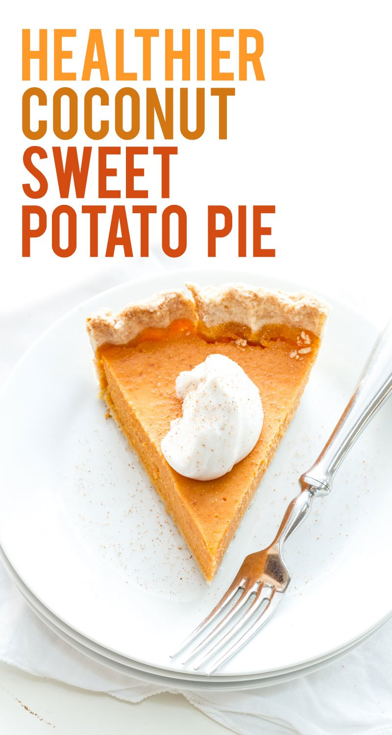 Healthier Coconut Sweet Potato Pie