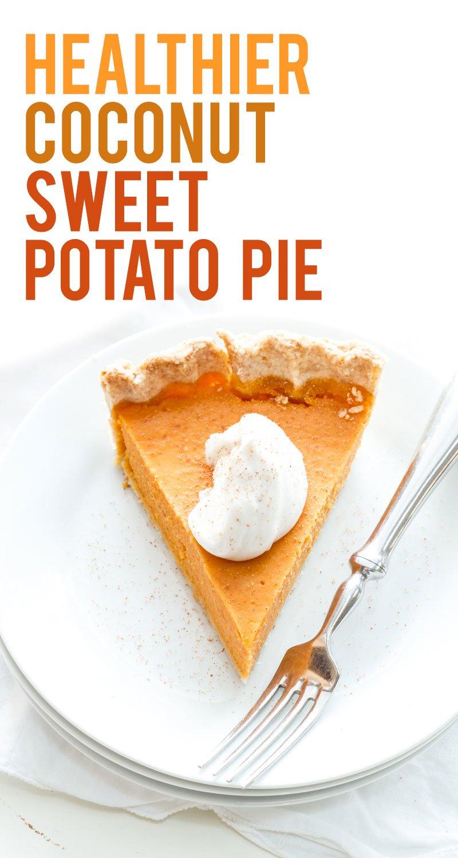 Healthier Coconut Sweet Potato Pie