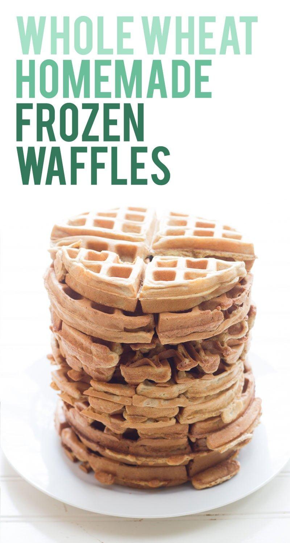 Homemade Whole Wheat Frozen Waffles