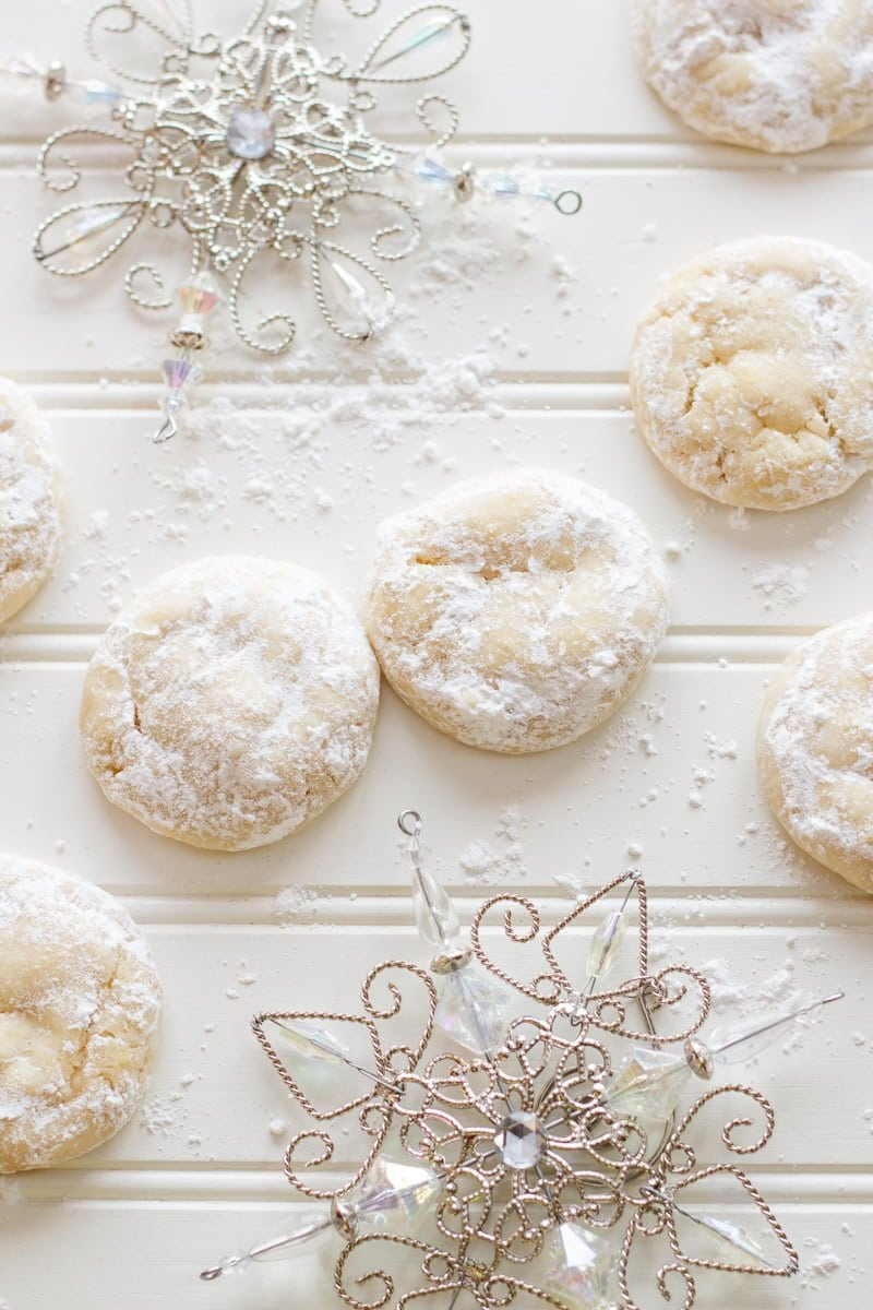 Chewy Lemon Snow Drop Cookies