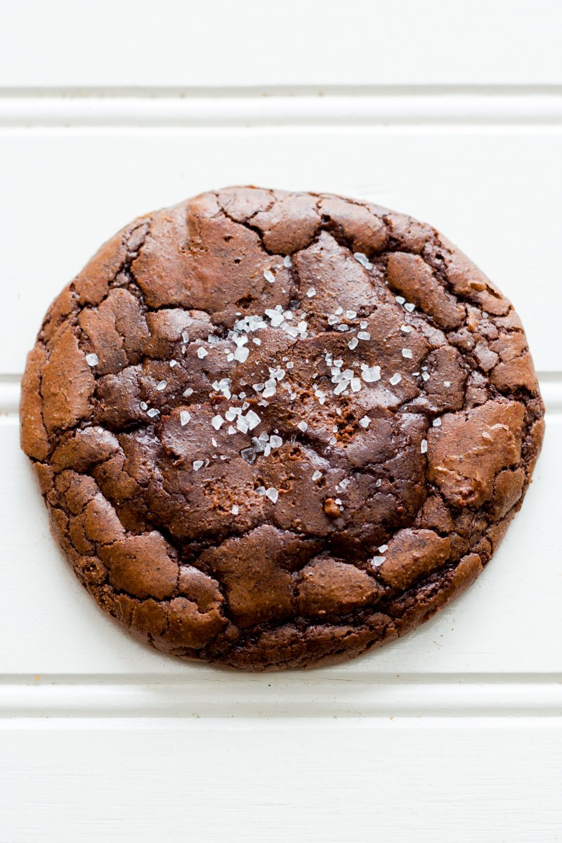 Salated Caramel Dark Chocolate Brownie Cookies