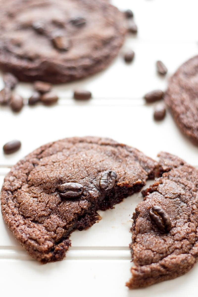 Chewy Double Chocolate Espresso Cookies - Wholefully