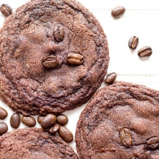 Chewy Double Chocolate Espresso Cookies