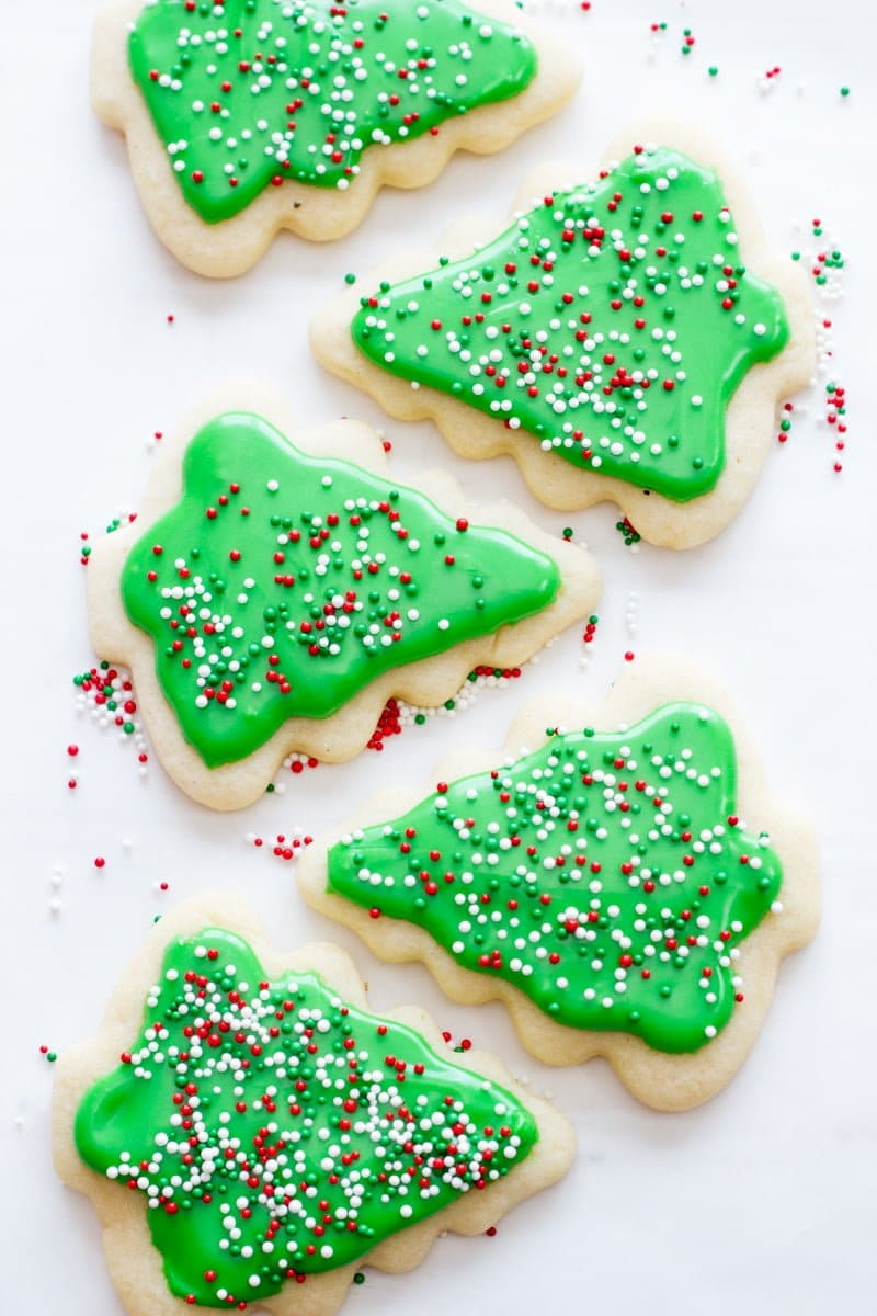 perfect frosted sugar cookies - Homemade Christmas Cookies