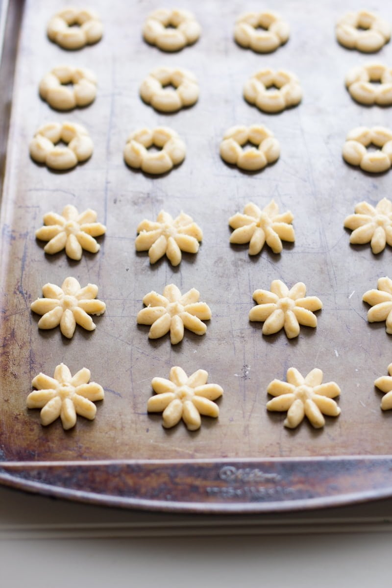 Clementine and Clove Spritz Cookies