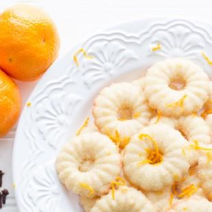 Clementine and Clove Spritz Cookies