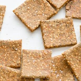 Gluten Free Super Seed Crackers