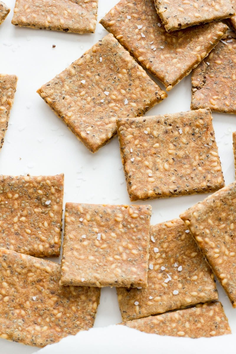 Gluten Free Super Seed Crackers
