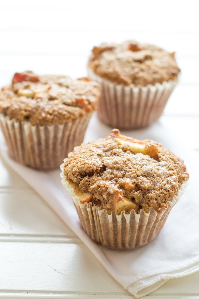 Whole Wheat Apple Raisin Muffins - Back to Her Roots